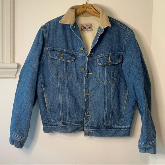 VINTAGE LEE Stormrider Sherpa lined denim jacket